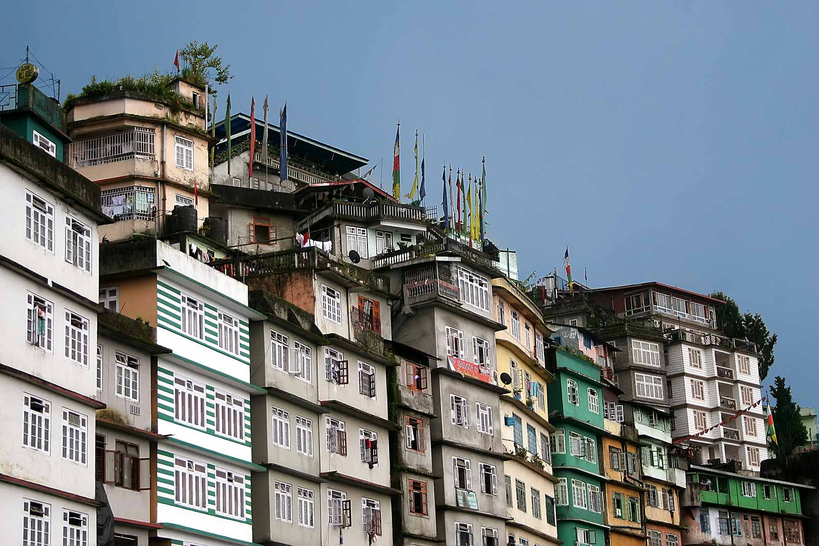 The buildings of Darjeeling, India.
