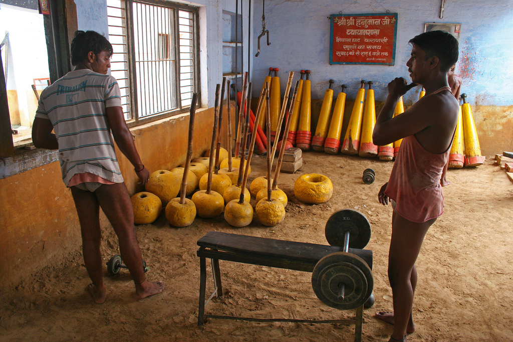 We randomly ended up in this local gym in Varanasi.