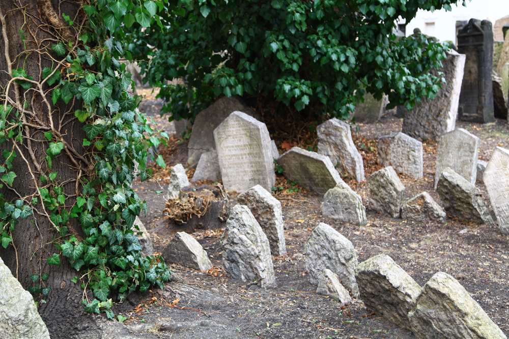 The Old Jewish Cemetery in Prague, Czech Republic.