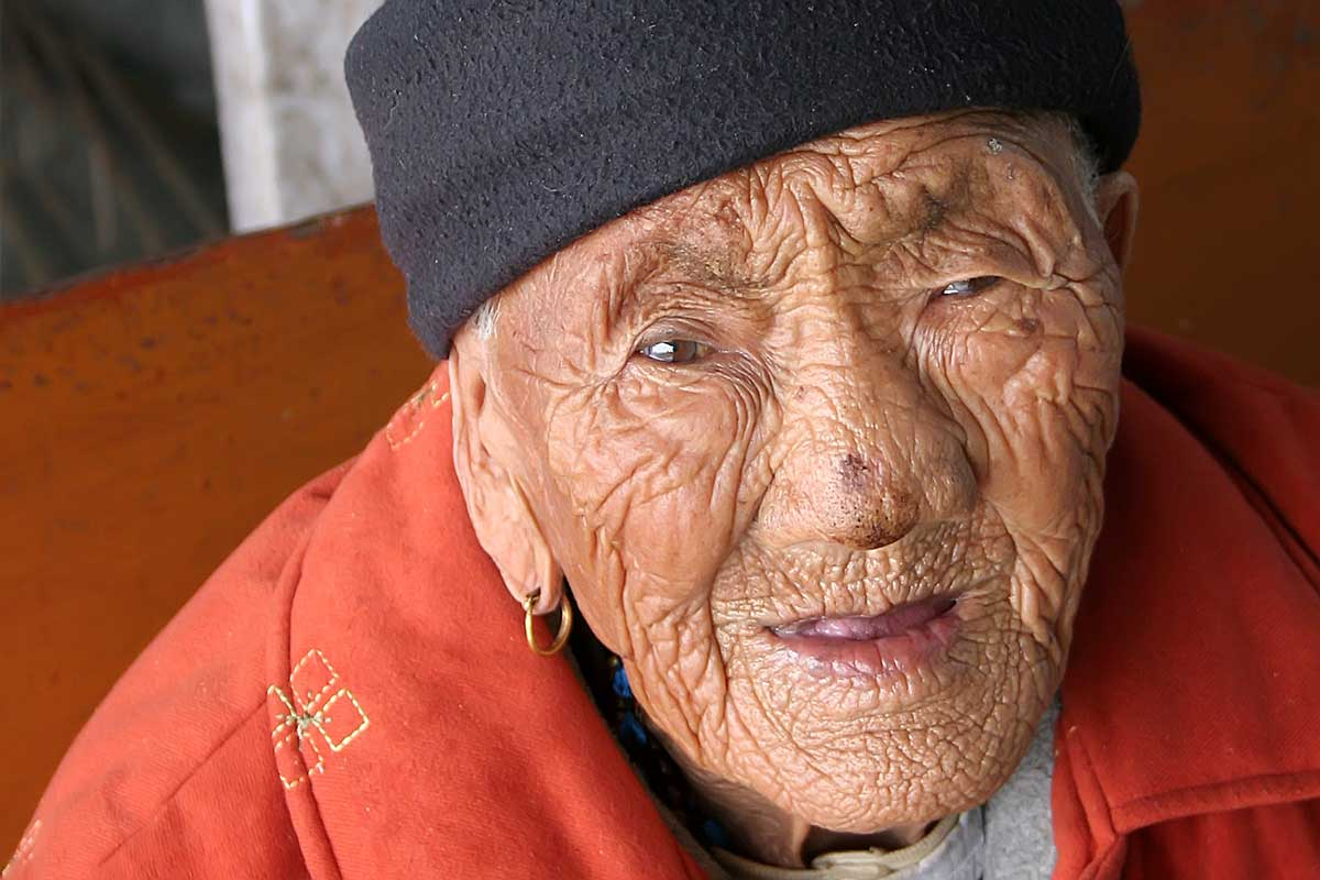 This woman greeted us at the train station in Darjeeling. By the look of her wrinkles, she must be about 100 years old.