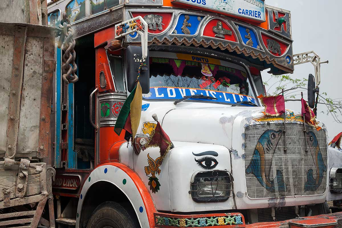 Typical trucks come all the way from Kolkata up to Darjeeling.