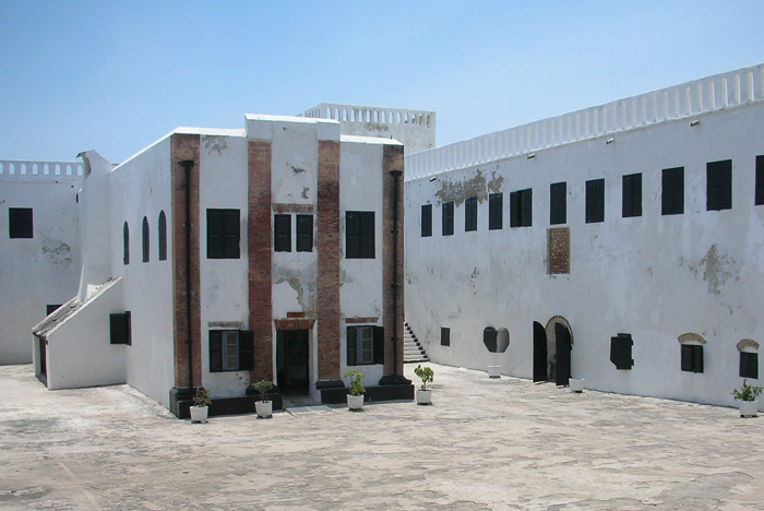 Inside Elmina Castle in Ghana, Africa.