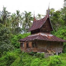 A local house in Sumatra, Indonesia.