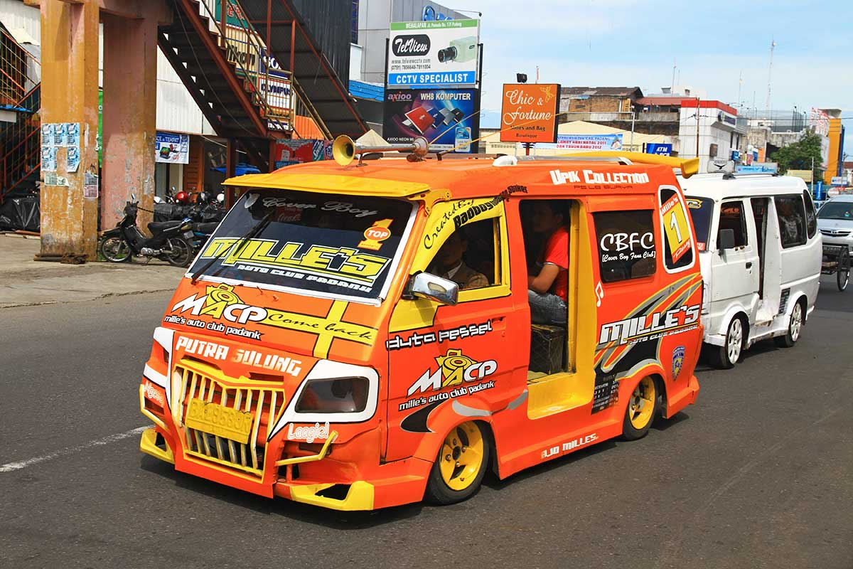 Bemos are the local taxi's all over Indonesia with Padang as a major hub.