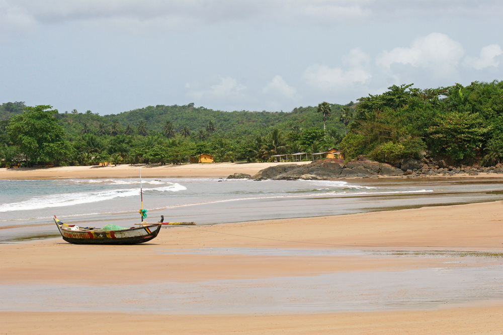 A wonderful beach near Takoradi, Ghana.