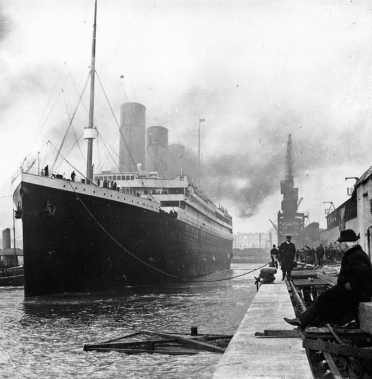 The Titanic in Southampton.