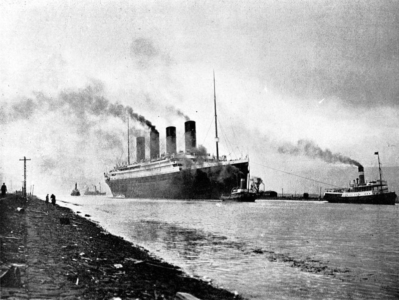The Titanic in Southampton (Photo credit: Wikimedia Commons).