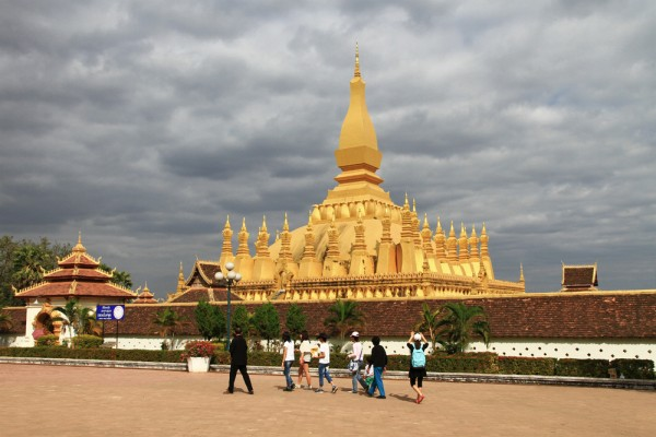 Well known: Pha That Luang Temple in Vientiane.