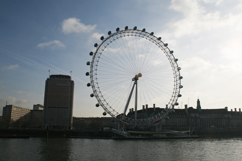 London eye ferries wheel.