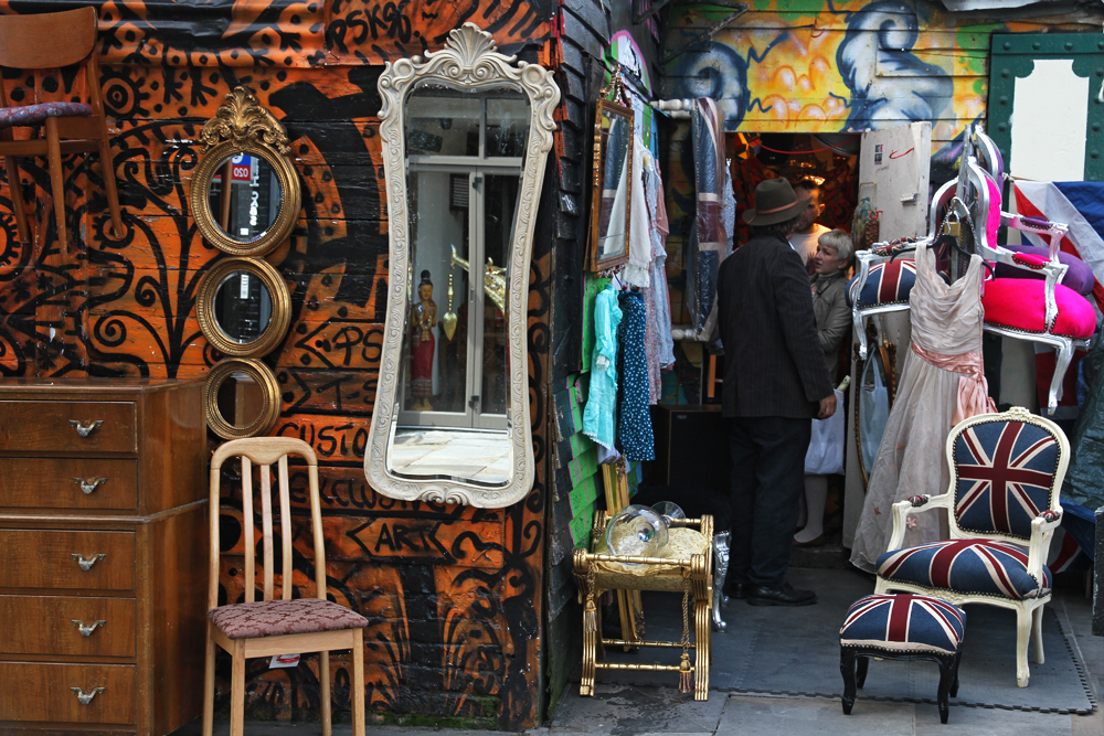 One of many little shop at Portobello Market, London.