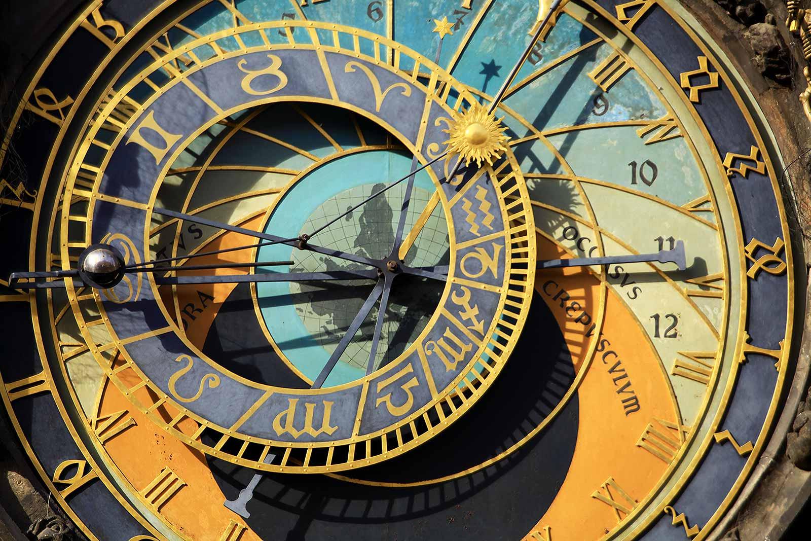 Astronomical Clock in Prague, Czech Republic.