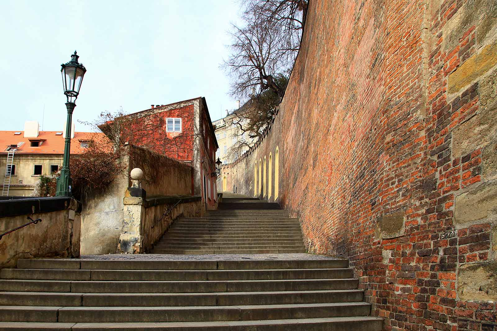The walls of Prague Castle.
