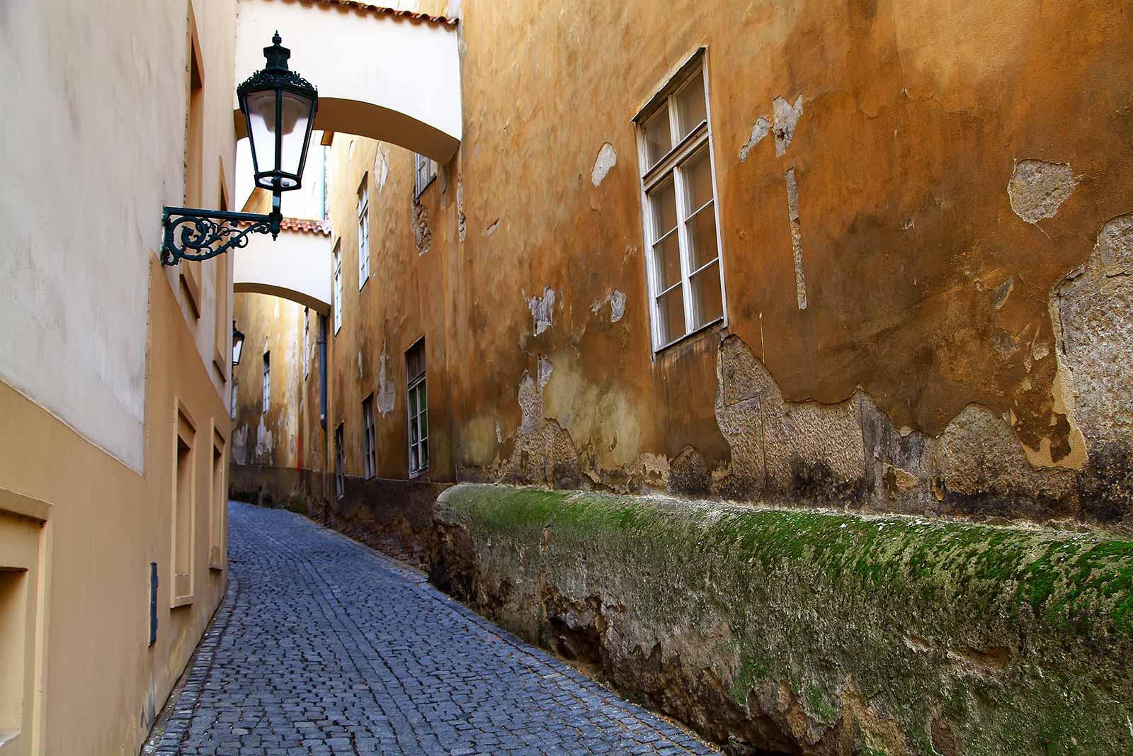 Walking around Prague Castle.
