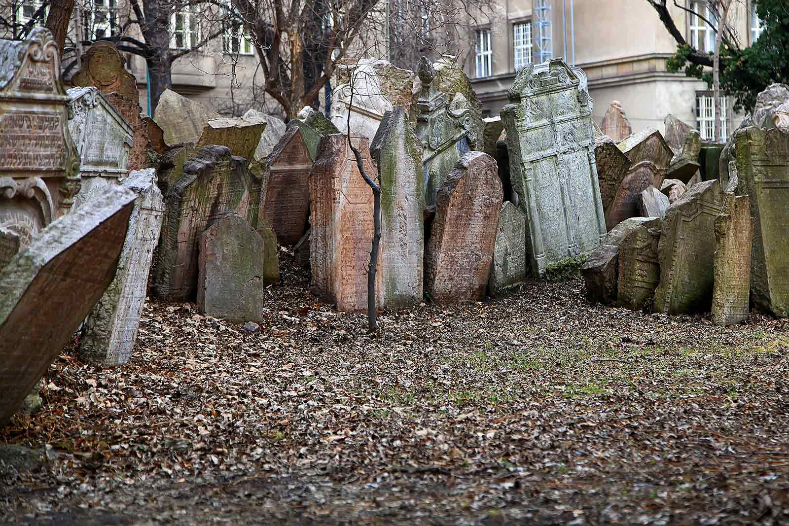 Jewish Cemetery in Prague, Czech Republic.