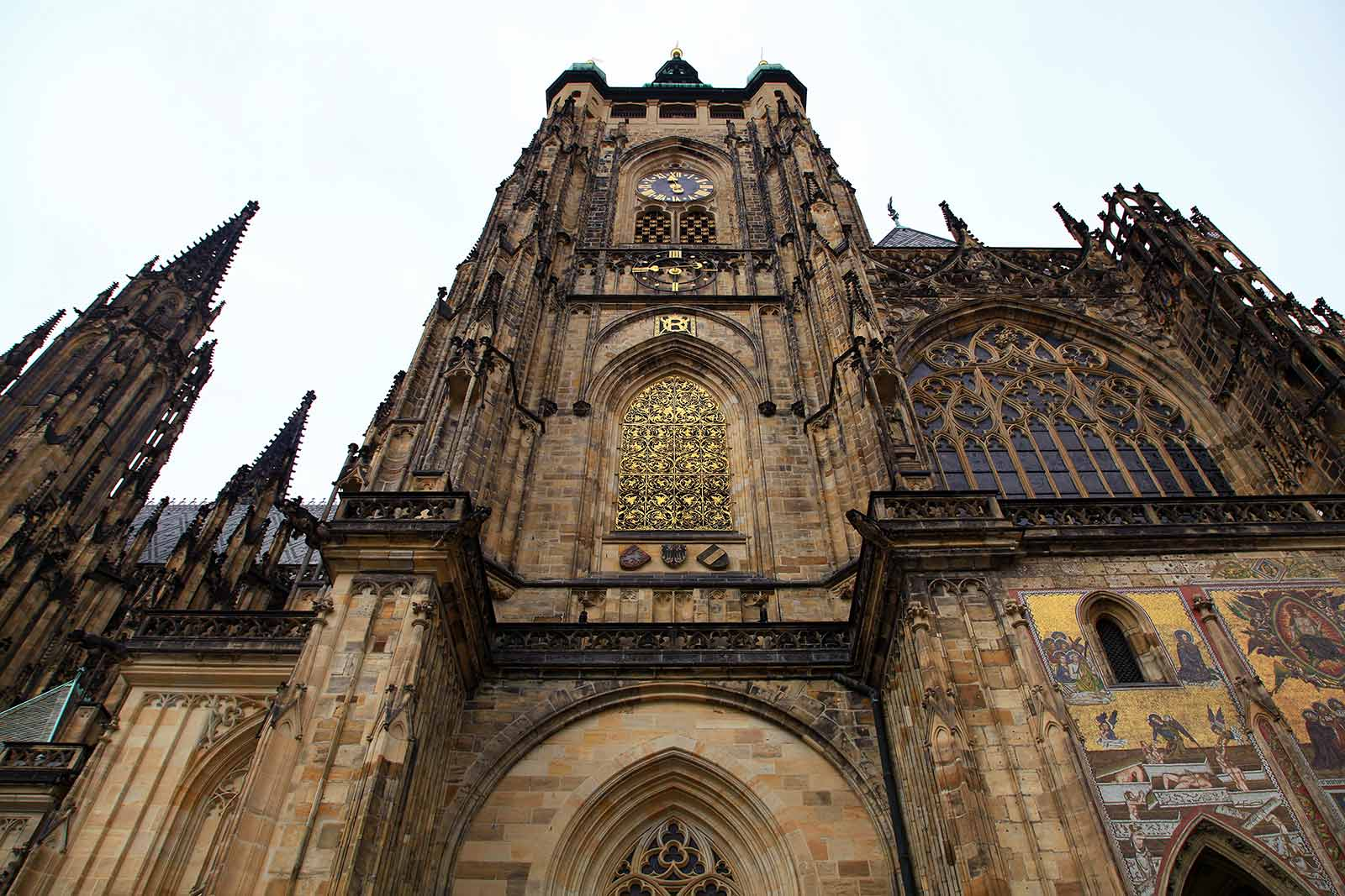 St. Vitus Cathedral is an excellent example of Gothic architecture and is the biggest and most important church in the Czech Republic..