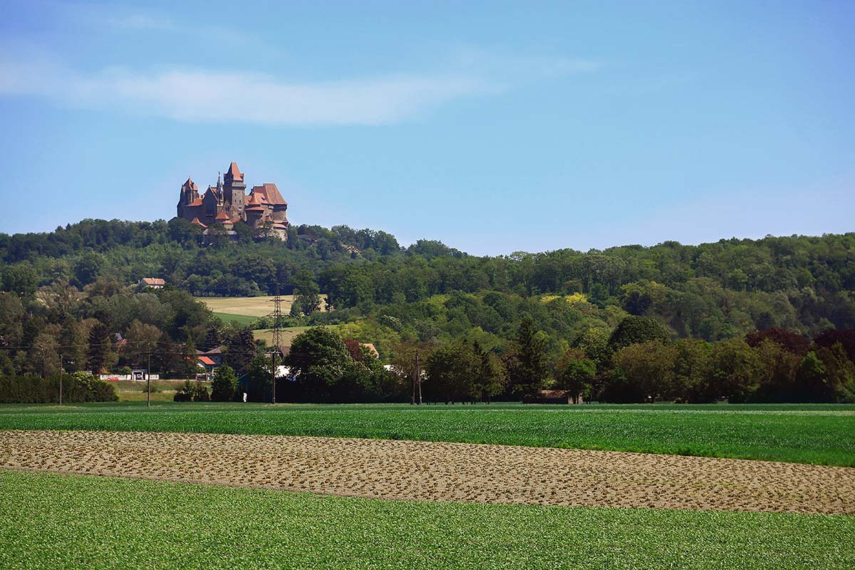 From far away, Burg Kreuzenstein looks a bit like Disneyland.