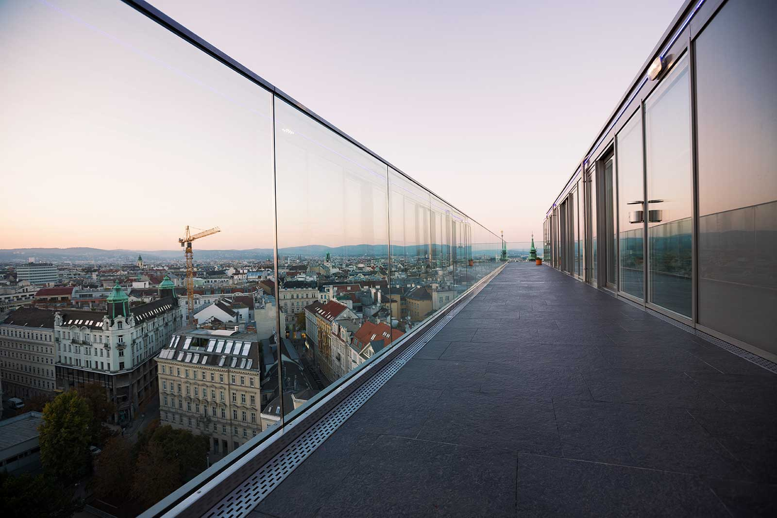 The Haus des Meeres offers some of the best views of Vienna. Its rooftop terraces offers a 360° view.