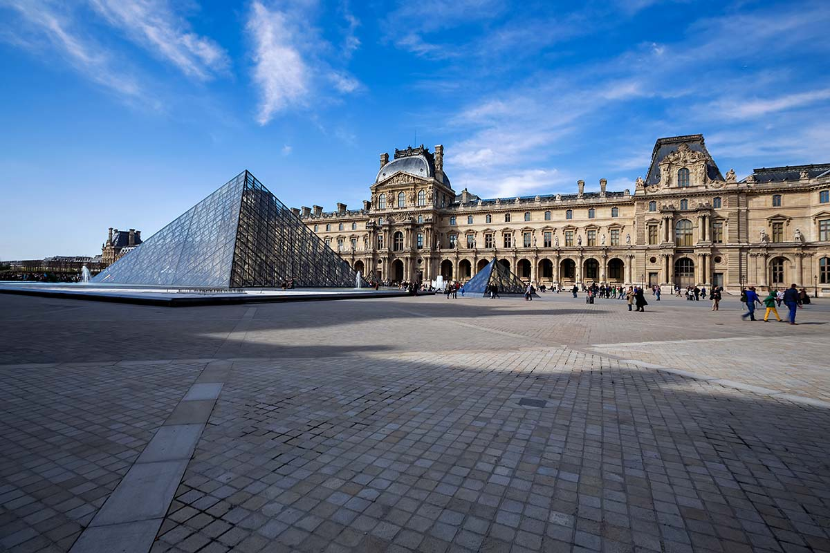 The Louvre Museum is one of the world's largest museums and a historic monument and a central landmark of Paris.