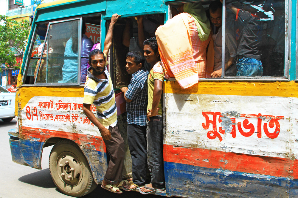 There is a reason why busses look so the way they look in Bangladesh ...
