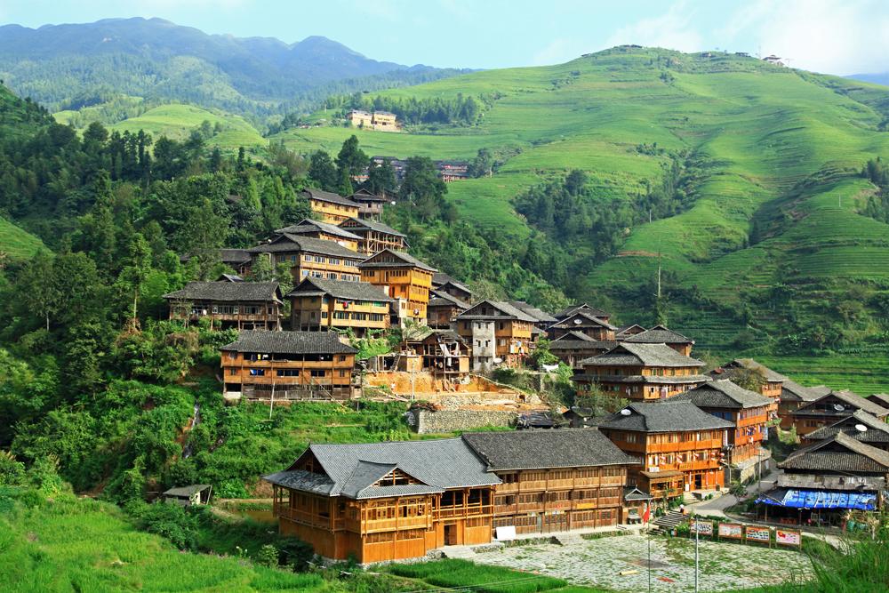Dazhai village in Longshend County, China.