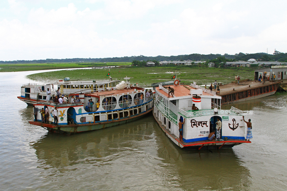 The port in Galachipa, Bangladesh.