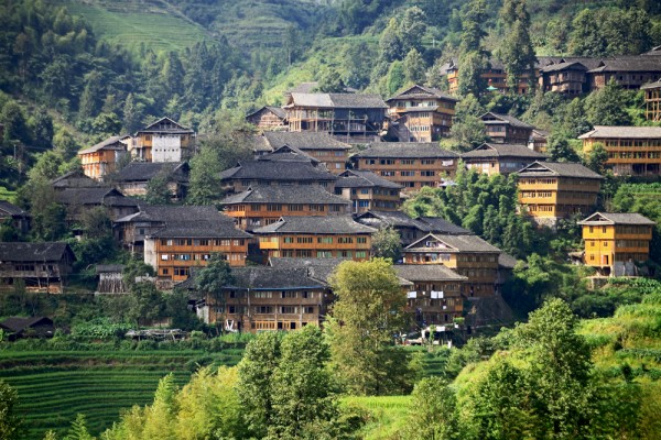 Tiantou vilage in Longsheng County, China.