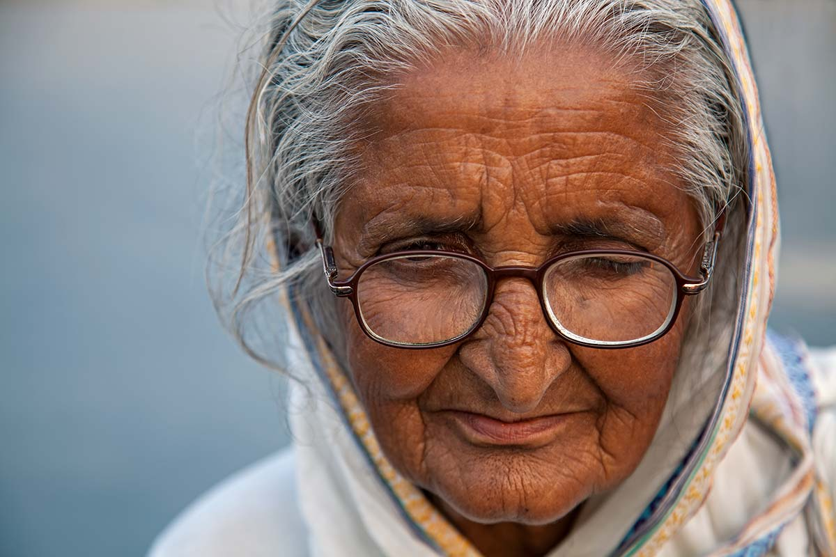 Portrait of a nun's in the streets of Kolkata.