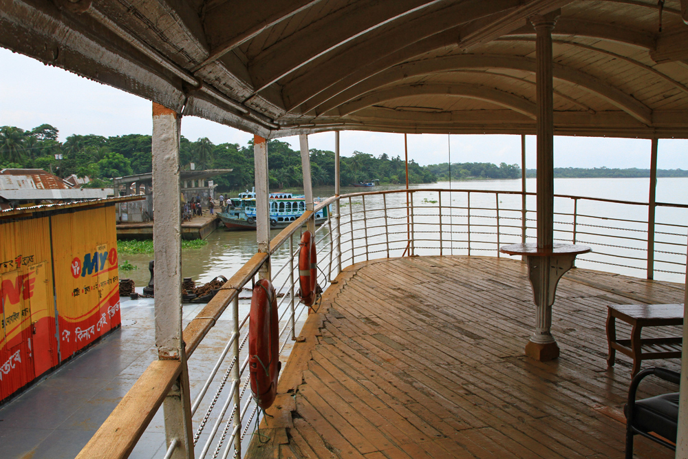 The deck of the Rocket Steamer already has some years on its hump, yet it still floats through the Sundarbans like when it first set sail.
