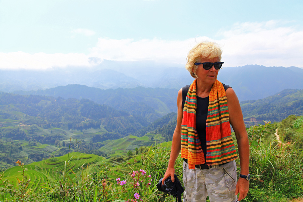 Up at viewpoint Nr. 3 in Longshend County, China.