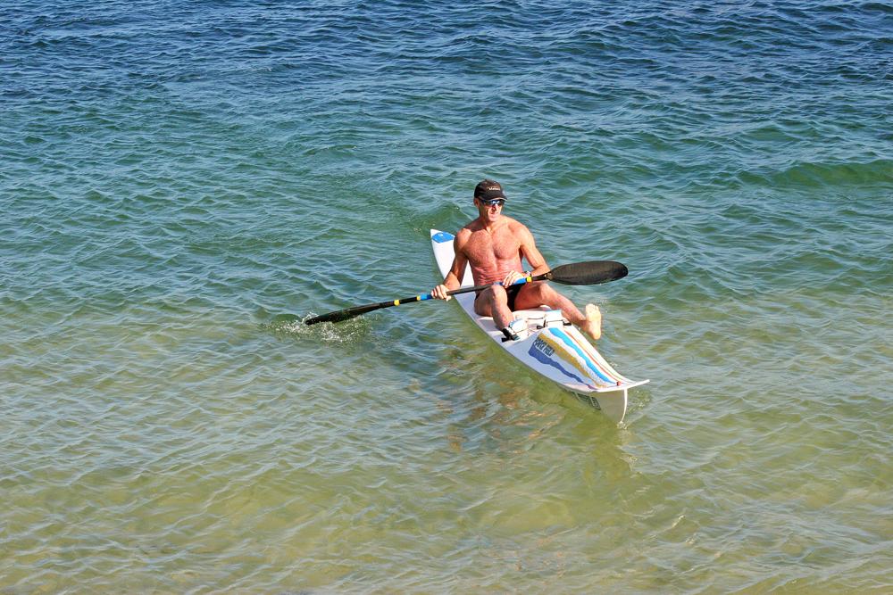 Enjoying a sunny day in the ocean near Bondi beach, Sydney.