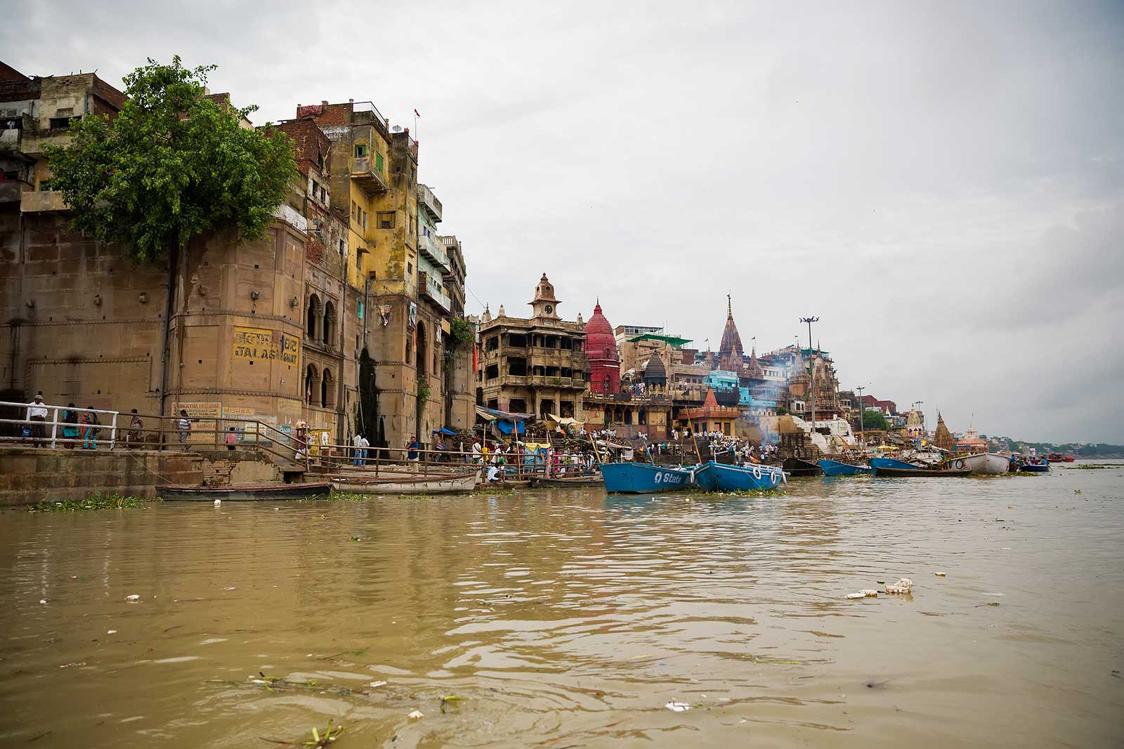 The view of the Varanasi skyline is breathtaking - especially from a boat.