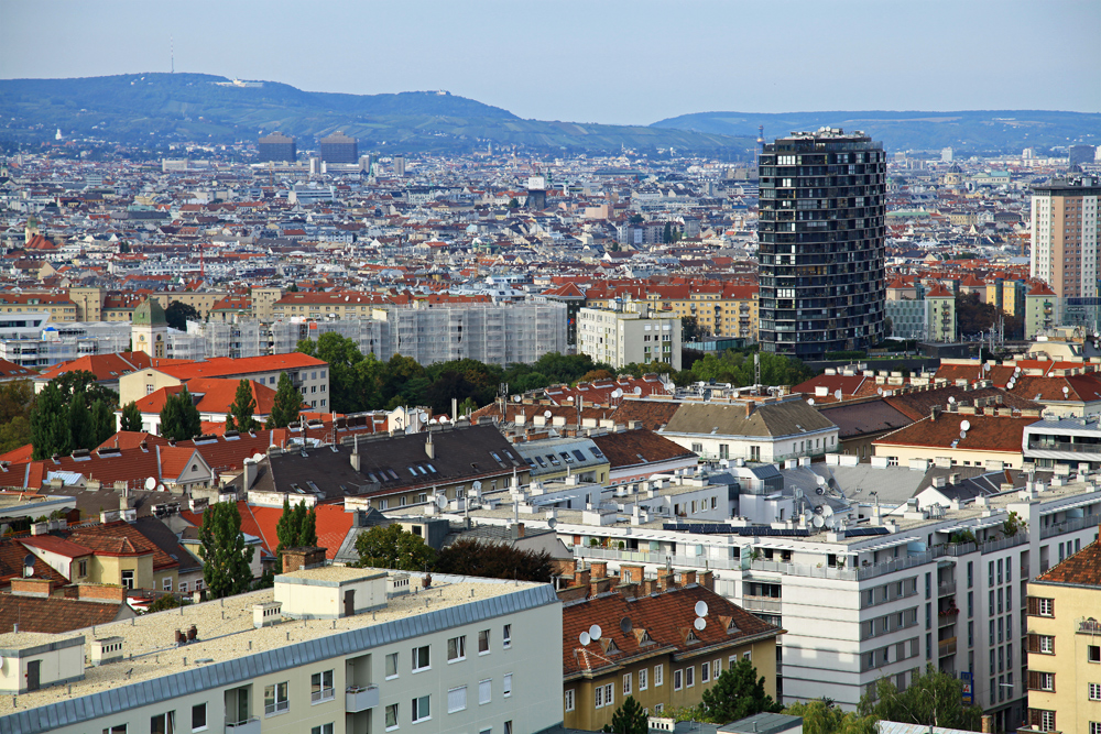 A clear city view of Vienna, Austria.