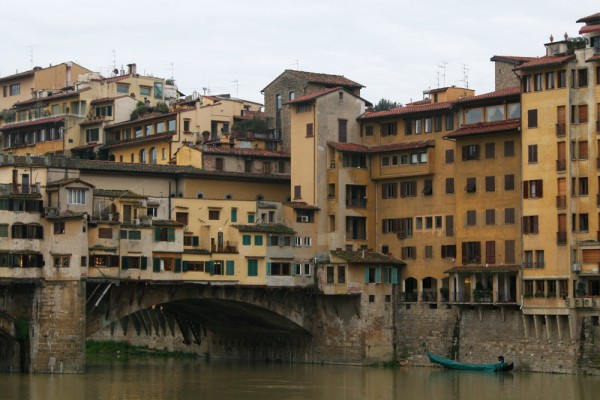 Ponte Vecciho bridge in Florence, Italy.