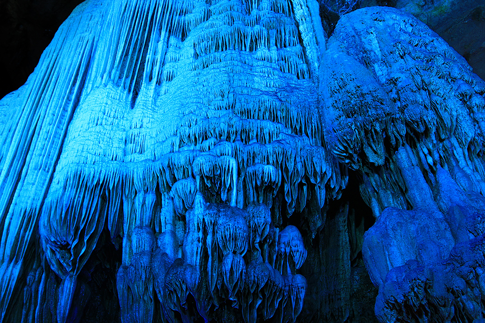 Inside Silver Cave in Yangshuo, China.