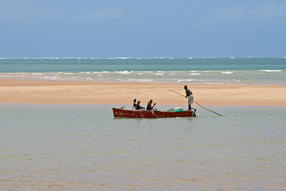 Fishermen near Bazaruto Island in Mozambique.