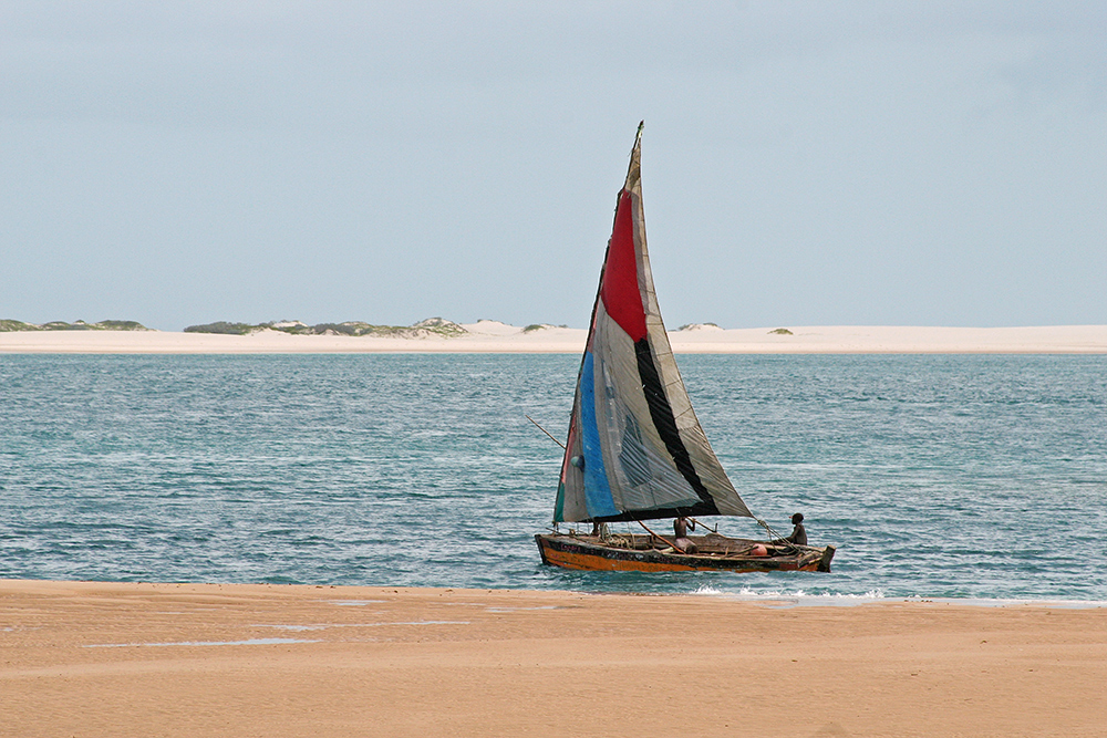 Fisherman around Bazaruto Island in Mozambique.