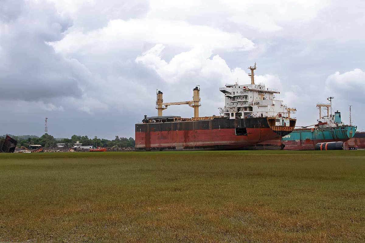 Chittagong Ship Breaking Yard, located in Bangladesh, is the world's second-largest ship breaking area (after the Alang ship breaking yard).
