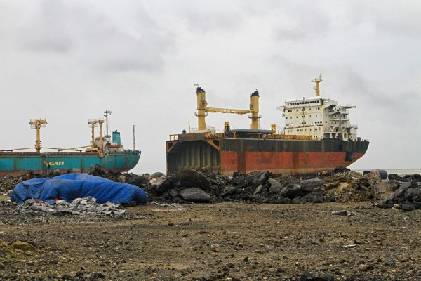 The Ship Breaking Yard in Chittagong, Bangladesh.
