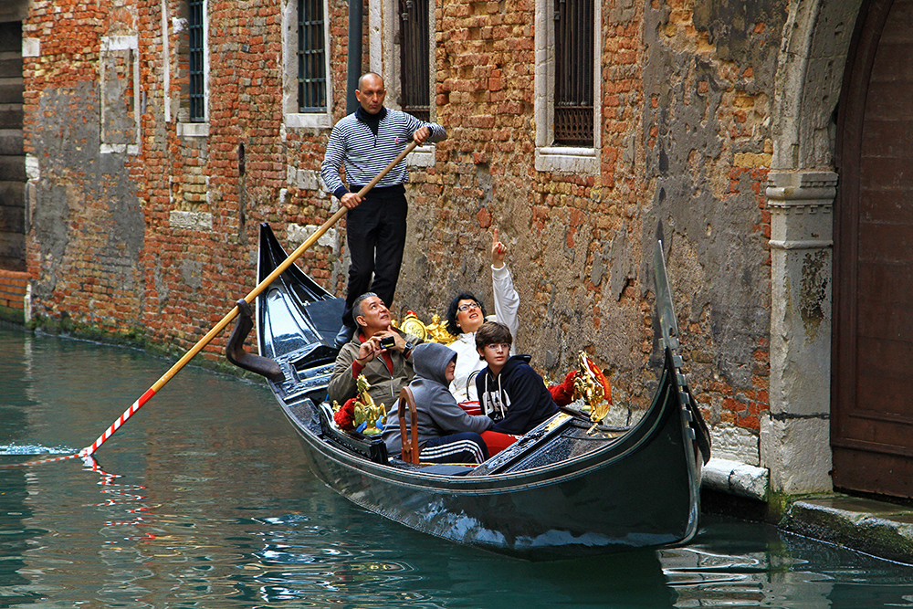 Gondola ride in Venice, Italy.