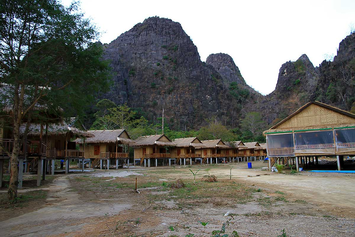 Green Climbers Home Lodge near Thakhek, Laos.