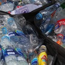 Plastic bottles in Bangkok, Thailand.
