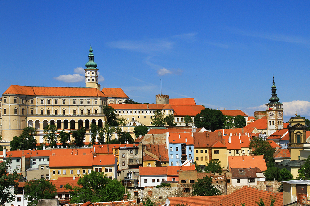 Mikulov city in Czech Republic.