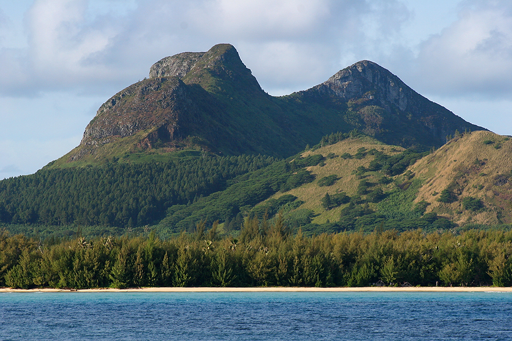 The landscape of the Austral Islands, French Polynesia.