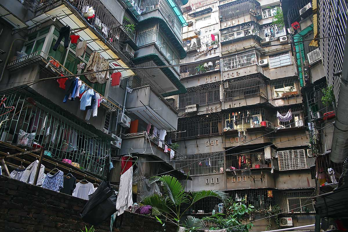 A typical apartment block in Guangzhou.