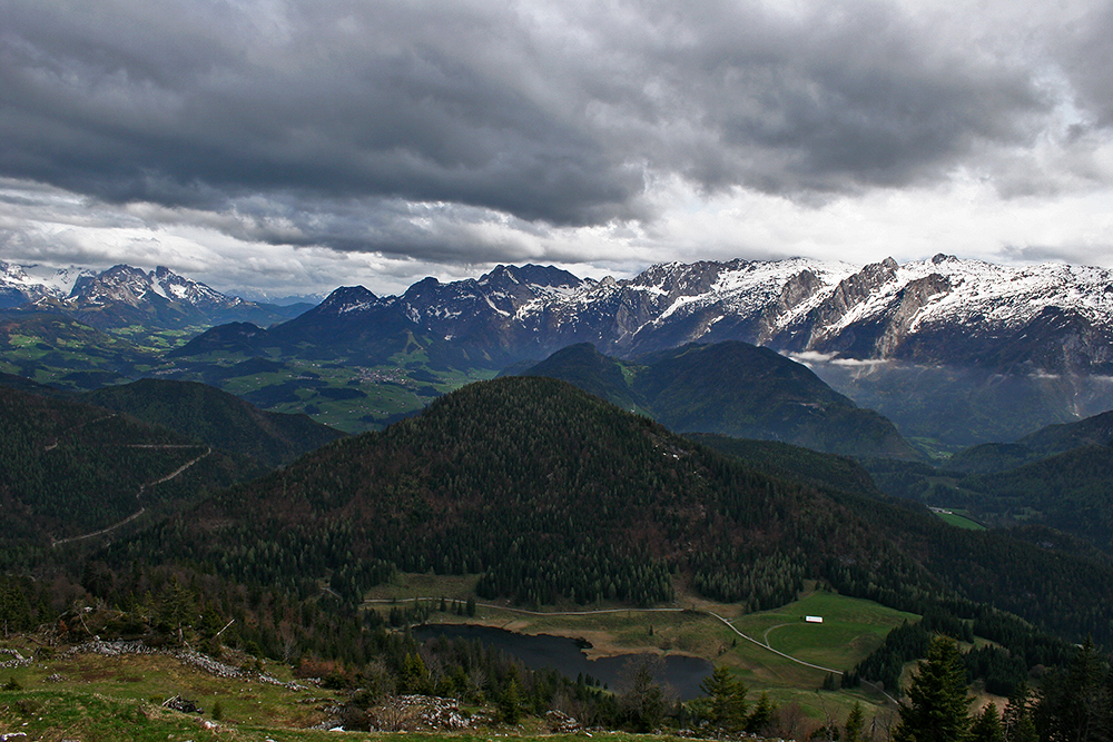 The landscape around Bad Gastein in Salzburg, Austria.