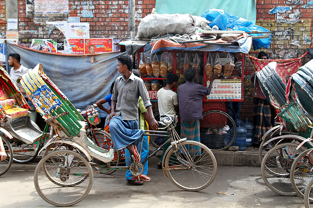 A Rikschaw driver in Old Dhaka, Bangladesh.