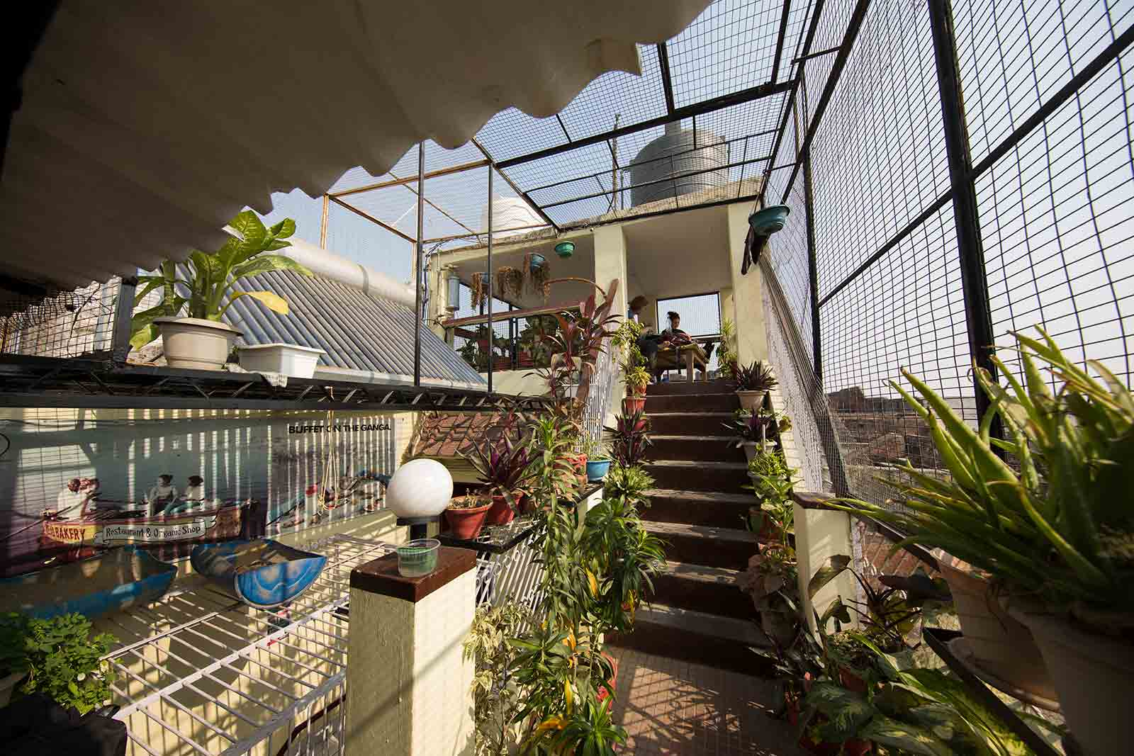 The rooftop terrace of the Brown Bread Bakery is not only the highlight of the bakery, but Varanasi itself.
