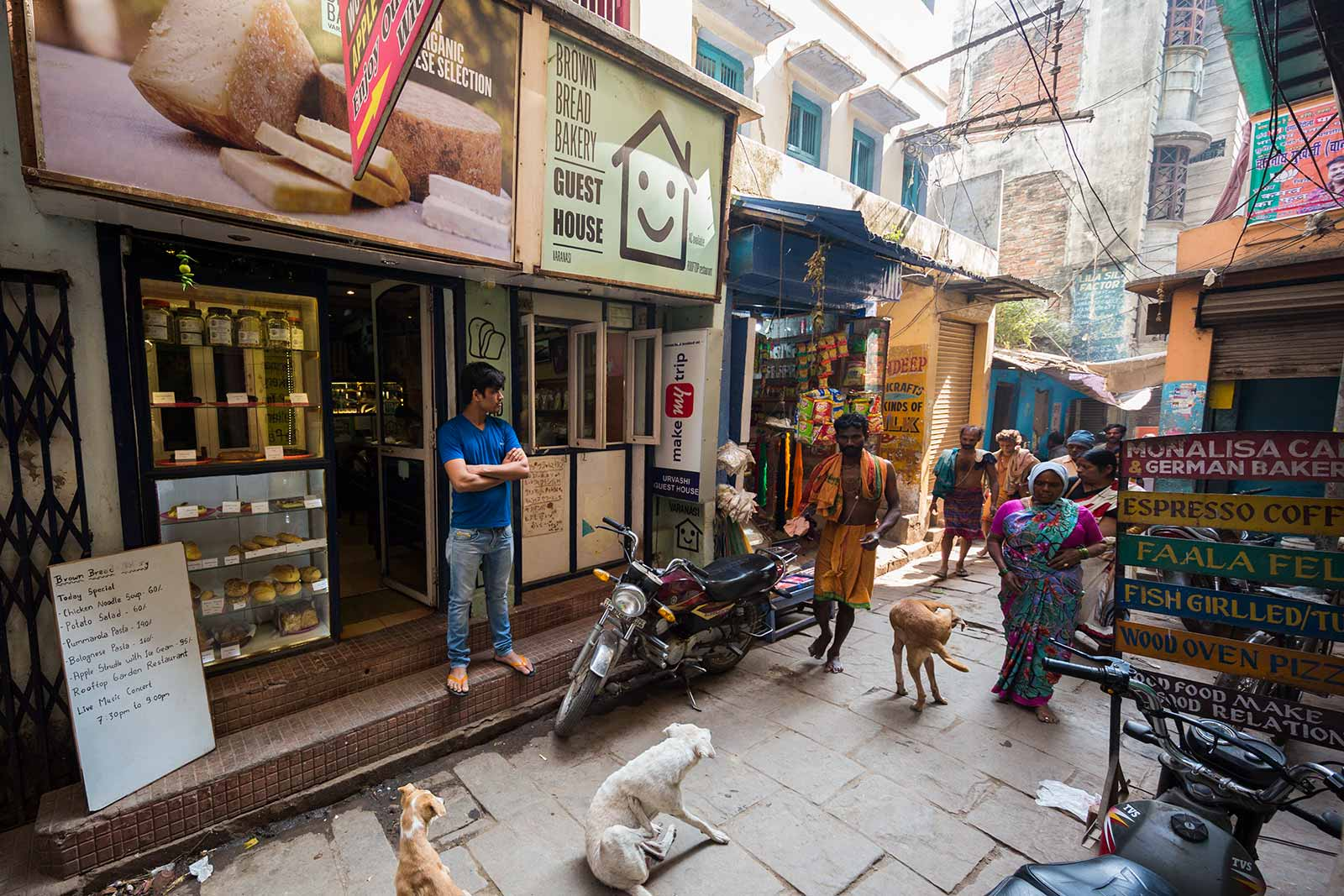The Brown Bread Bakery is a famous spot in Varanasi and pretty much everyone can guide you the way here.