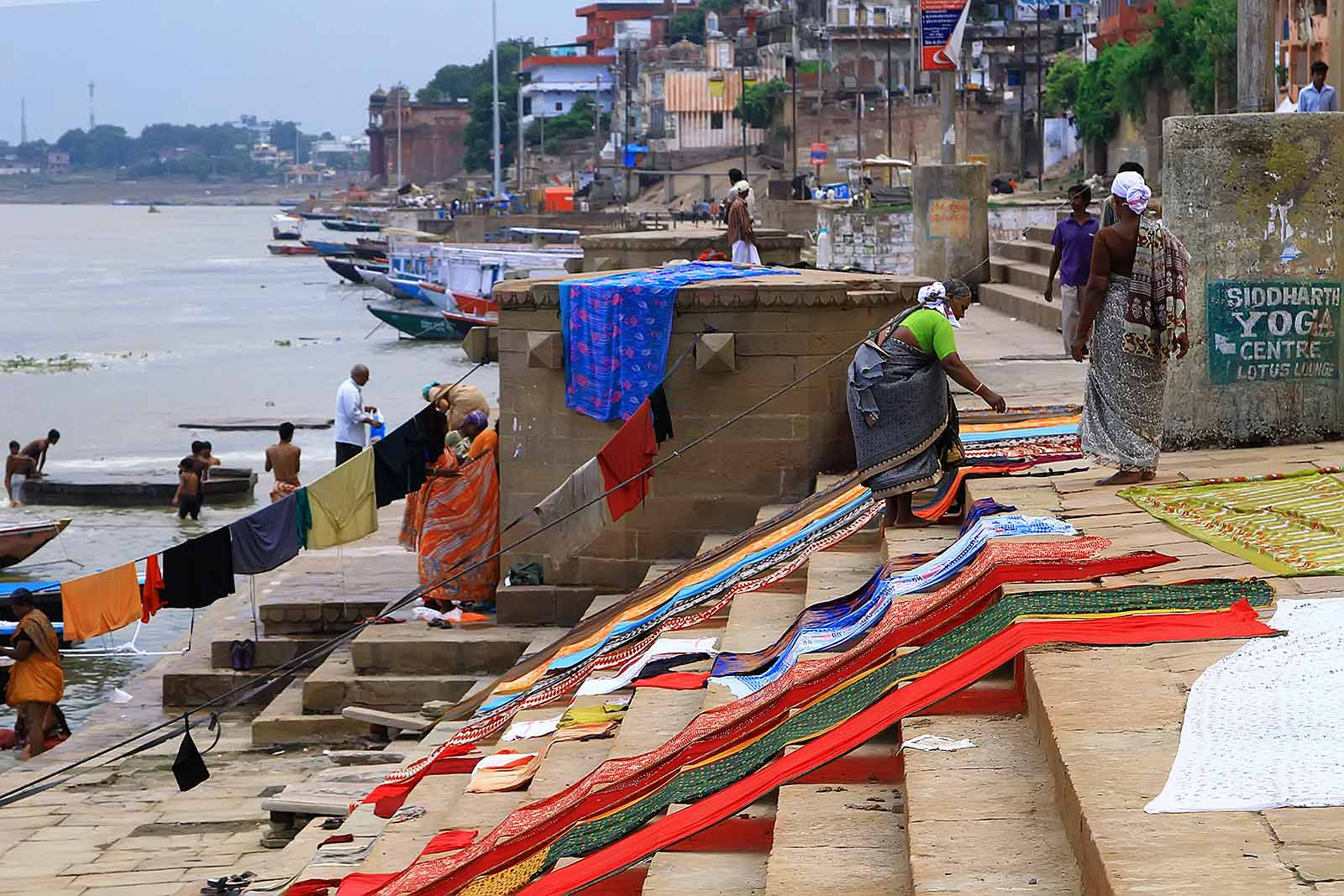 Taking a stroll along the Ghats in Varanasi, India.