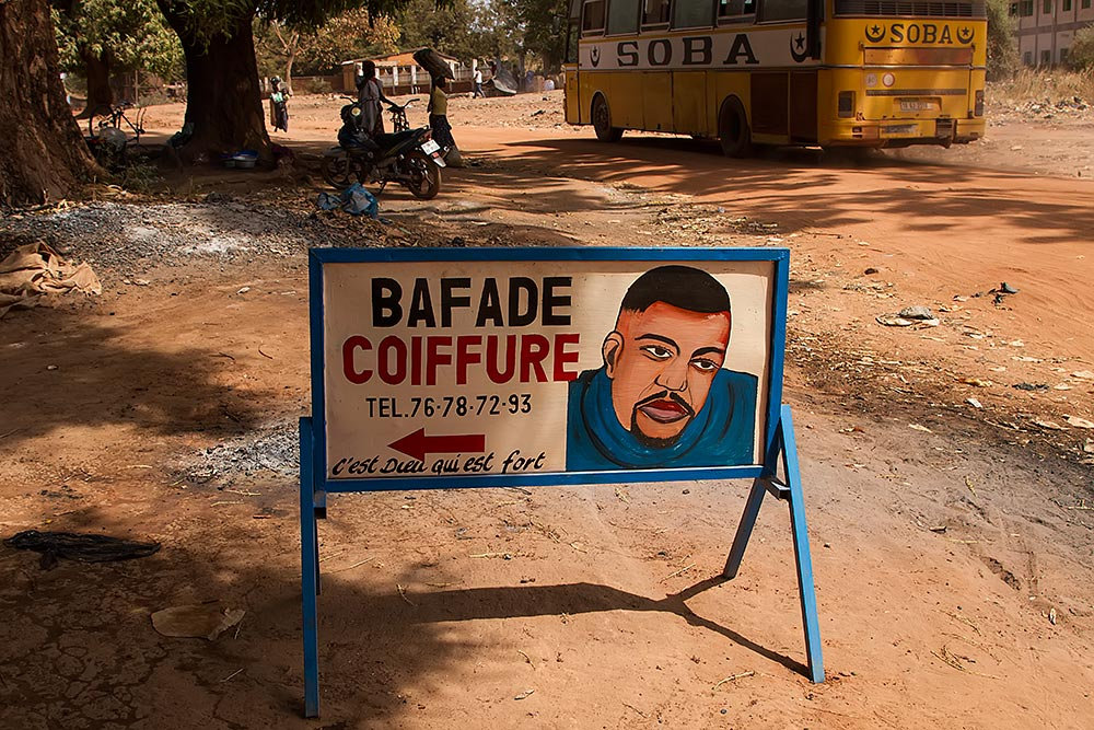 Coiffure sign in Burkina Faso.